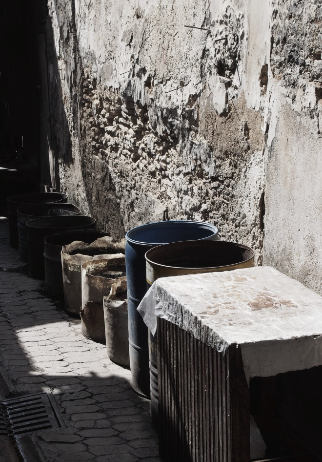 Barrels of who knows what, Fes